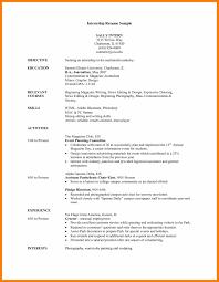 hostess resume examples resume sample for internship free resume example and writing 7 cv sample for internship