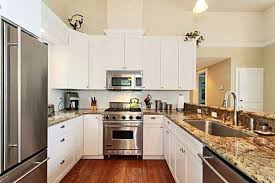 kitchens with stainless appliances white kitchen cabinets with stainless steel appliances white
