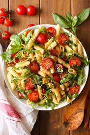 salad pasta tomato arugula balsamic pasta salad a saucy kitchen