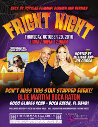fright night halloween party blue martini boca raton halloween
