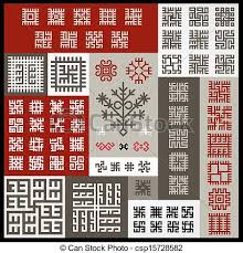 vector of ethnographic ornaments set of more than 60