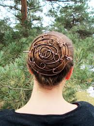 bun holder yin yang copper bun holder custom made to fit