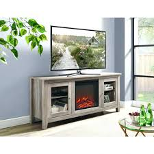 media storage around fireplace chic wood stand console grey wash