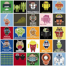 all androids android themed illustrations combined with other pop