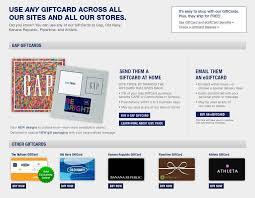 gap gift cards gap
