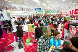target super store black friday offer mobile checkout devices let people scan and they shop wsj