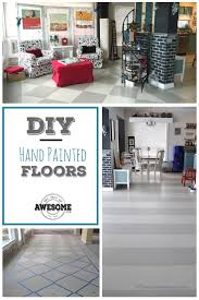 my diy hand painted floors 365 days of awesome