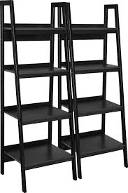 4 Sided Bookshelf Amazon Com Ameriwood Home Lawrence 4 Shelf Ladder Bookcase Bundle