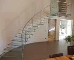Glass Stair Banister Spiral Staircases And Straight Stacked Stairs Marretti Interior