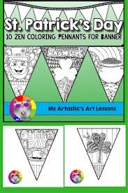 st patricks coloring pages pennant banner at page eson me