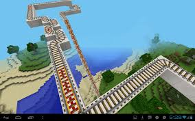 minecraft map minecraft pe backyard roller coaster and coolest dad
