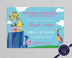 paradise falls printable baby shower invitation inspired