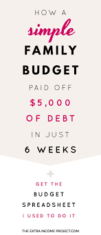 Spreadsheet For Paying Debt 25 Best Family Budget Template Ideas On Budget