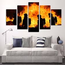 Firefighter Home Decorations Online Get Cheap Firefighter Wall Art Aliexpress Com Alibaba Group