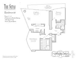 setai south beach floor plans