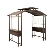 home depot patio gazebo hampton bay 8 ft x 5 ft walker grill gazebo l gz411pst the