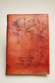 leather map large map quote leather journal earthbound trading co