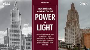 kansas power and light restoring power light iconic art deco building nears reopening
