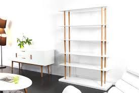 White Modern Bookcase by Gilda White Natural Wood Modern Bookcase 5 Shelves Miliboo