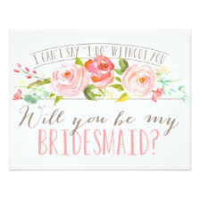 bridesmaid invitations template bridesmaid cards greeting photo cards zazzle