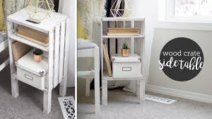 Wooden Crate Nightstand Diy Wood Crate End Table Or Nightstand Easy Youtube