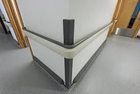 Plastic Handrail Crashworthy Pvc Wall Protection Rails 126mm Dia Pt 126