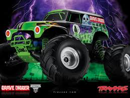 traxxas grave digger rc monster truck grave digger 4x2 1 10 brushed traxxas