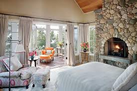 fireplace bedroom master bedroom ideas with stone wall decor and fireplace home