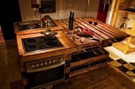 cuisine en palette bois dcoration palette en bois