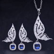 925 silver butterfly necklace sets 925 silver butterfly