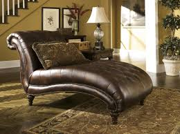 Living Room Furniture Chaise Lounge Furniture Tone Grain Leather Tufted Sofa With Carved Based