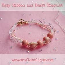 bracelet with beads images Easy knotted ribbon bracelet with beads craftaholique jpg