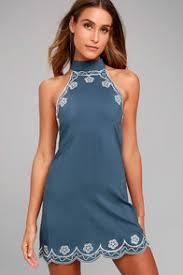 cute blue and white gingham dress sheath dress off the