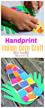 easy and sweet handprint indian corn craft for kids to make