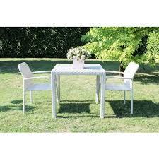 tavoli da giardino rattan set tavolo giardino quadrato fisso con piano in polywood 80 x 80