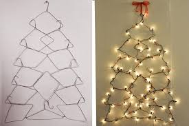 wire christmas tree with lights decorations diy wall hanging christmas trees wire hangers with