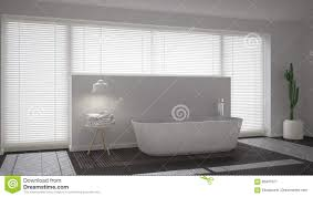Minimalistic Interior Design Scandinavian Bathroom White Minimalistic Interior Design Stock