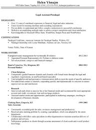 Personal Injury Paralegal Resume Sample Paralegal Resume Objective Examples