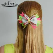 softball hair bows 2018 2017 softball team baseball cheer bows handmade yellow ribbon