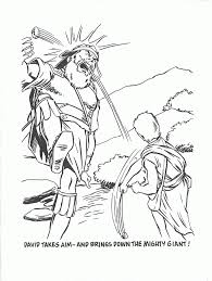 free david and goliath fight coloring page free printable coloring