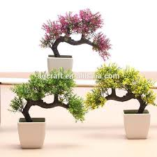 artificial bonsai plant pot decorate flower artificial