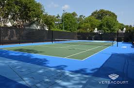 Backyard Tennis Courts by Tour Greens Western New York Backyard Multi Game Court Installations