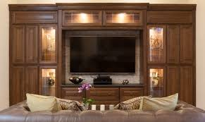 home theater cabinets j u0026k traditional chocolate glazed cabinets made from maple wood