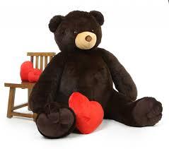 stuffed teddy bears walmart com baby tubs life size cuddly chocolate brown giant teddy bear 65 inch