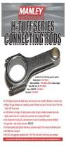 manley h tuff series connecting rods mitsubishi 4g63 engines