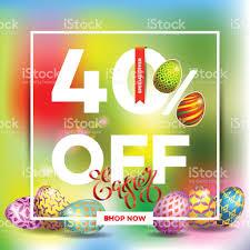 easter egg sale easter egg sale banner background template26 stock vector