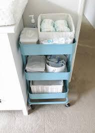 raskog cart ideas storage organization ikea raskog cart in baby room 8 clever