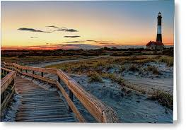 will moses christmas cards island lighthouse at robert moses state park photograph by jim