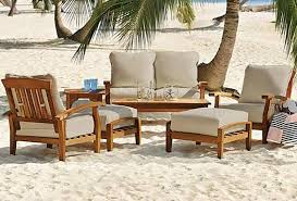Patio Seating Furniture by 7 Piece Teak Wood Outdoor Patio Seating Set