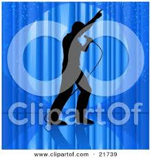 Curtains On A Stage Red Stage Or Window Curtains Pulled And Tied To The Side Clipart